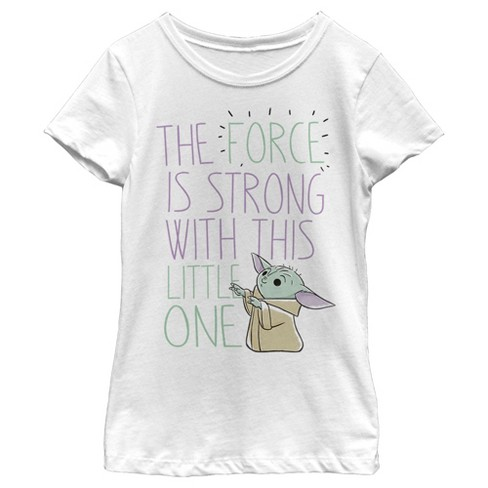 Girl's Star Wars The Mandalorian The Child The Force is Strong T-Shirt - image 1 of 2