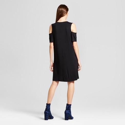 3fadae9c4c Women's Cold Shoulder Cutout Swing Dress - Alison... : Target