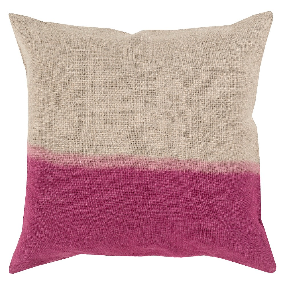 Magenta (Pink) Dip Dyed Throw Pillow 20