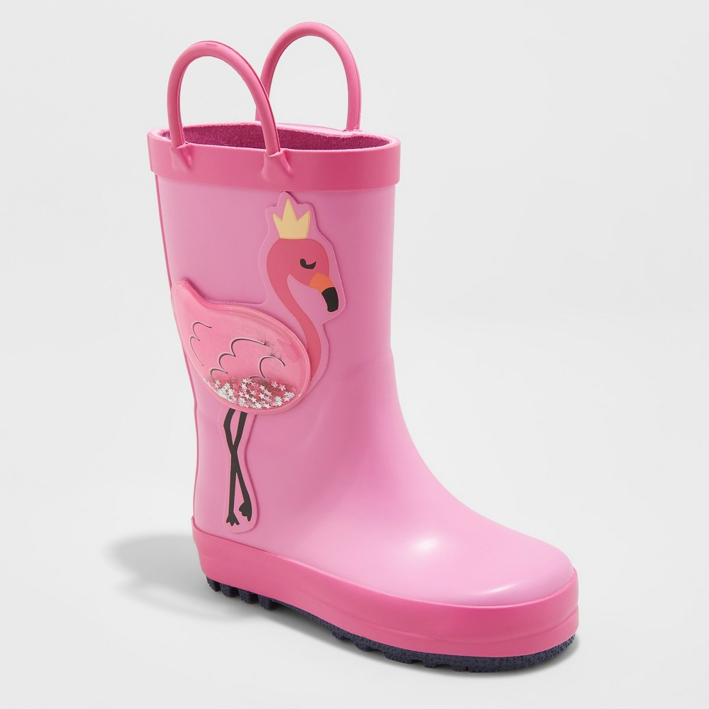 Toddler Girls' Morley Rainboots - Cat & Jack Pink 5