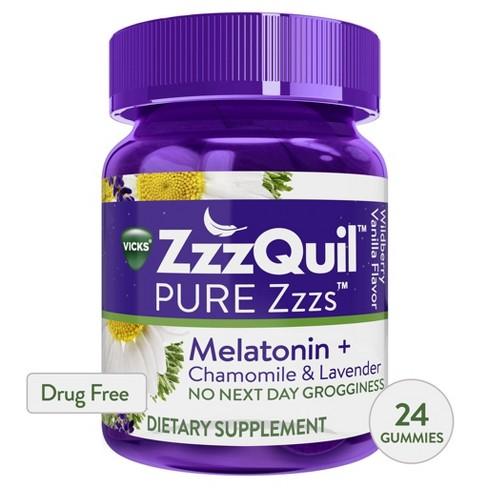 Vicks PURE Zzzs Melatonin Sleep Aid Gummies - Wildberry Vanilla - image 1 of 4