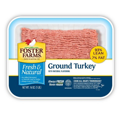 Foster Farms Fresh & Natural 93/7 Ground Turkey - 16oz