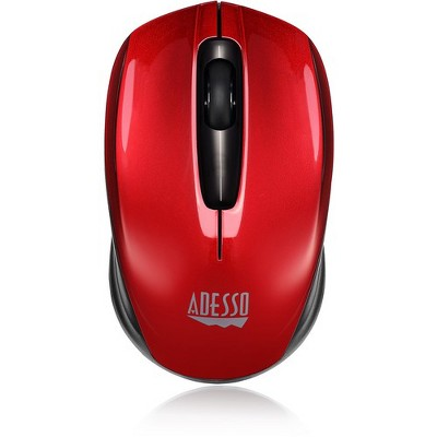 Adesso iMouse S50R - 2.4GHz Wireless Mini Mouse - Optical - Wireless - Radio Frequency - Red - USB - 1200 dpi - Scroll Wheel - 3 Button(s)