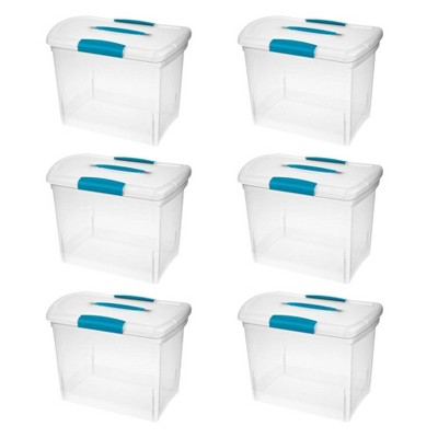 Sterilite Large Nesting ShowOffs Clear File Box w/ Latches (6 Pack)   18768606