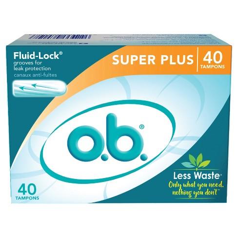 o.b. Original Tampons - Applicator-Free - Unscented - Super Plus - 40ct - image 1 of 3