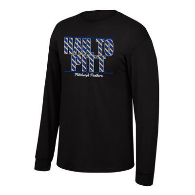 NCAA Pitt Panthers Men's Long Sleeve Crew Neck T-Shirt