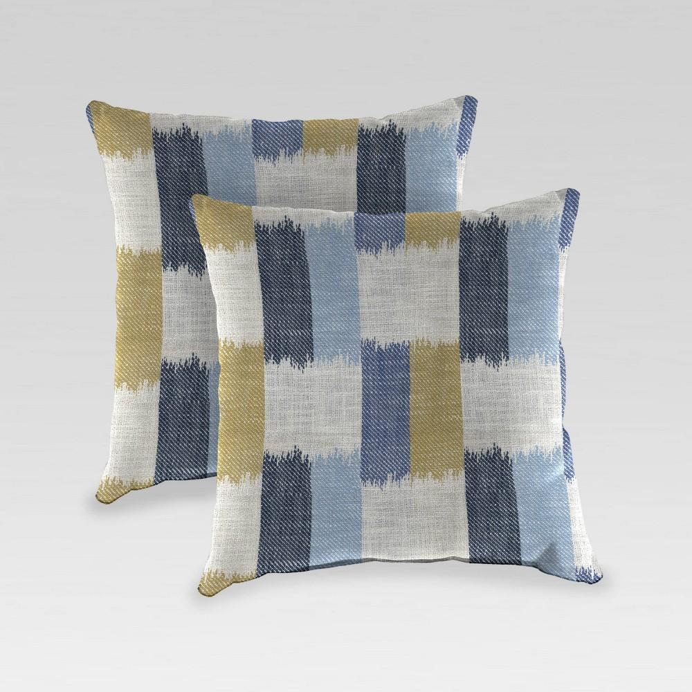 2pk Outdoor Pillow Set Betide Azure Jordan Manufacturing
