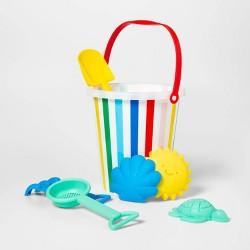 7 Piece Rainbow Sand Bucket Set - Sun Squad™