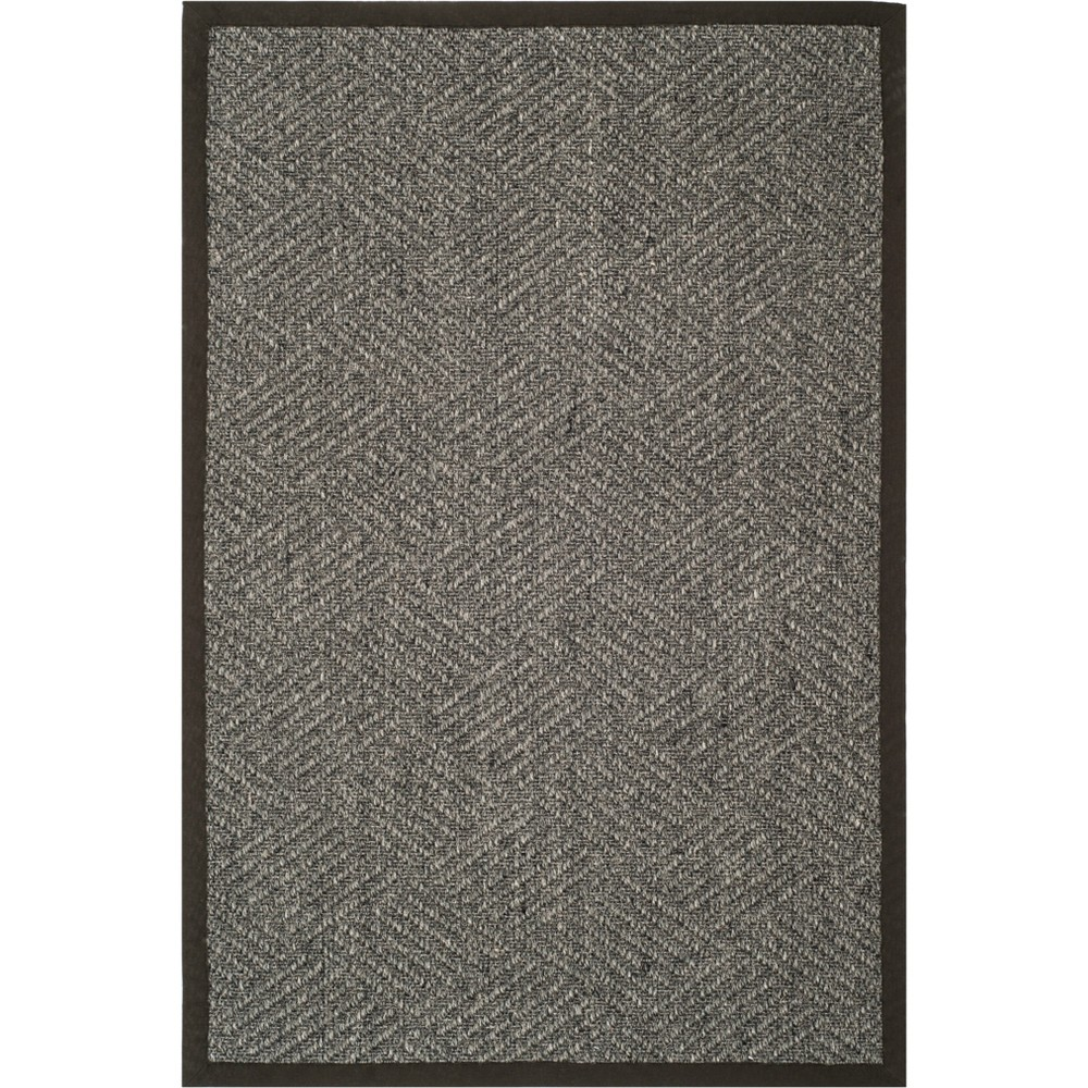 5'X8' Crosshatch Loomed Area Rug Gray - Safavieh