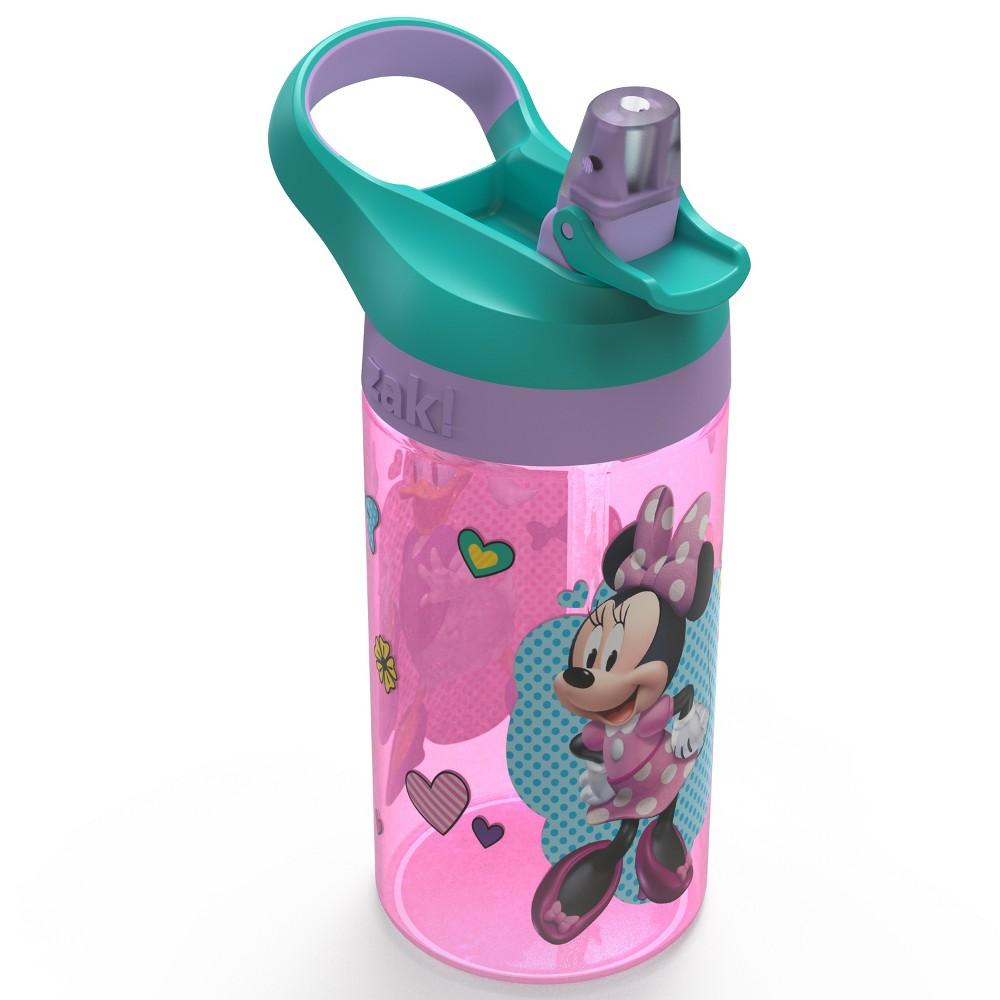 Image of Disney Minnie Mouse 16oz Plastic Water Bottle Pink/Teal (Blue) - Zak Designs