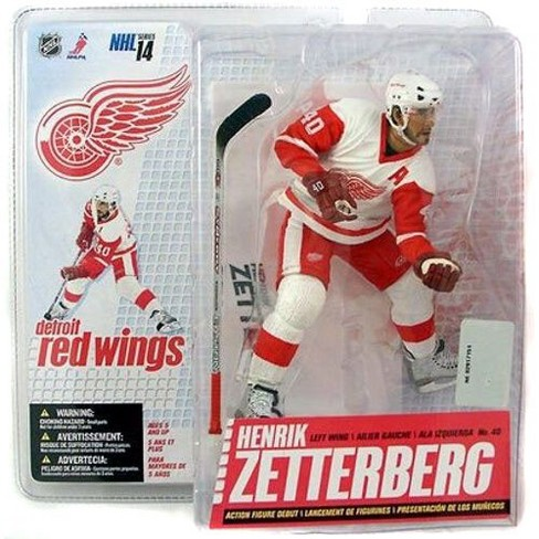 McFarlane Toys NHL Detroit Red Wings Sports Picks Series 14 Henrik Zetterberg Action Figure [White Jersey] - image 1 of 1