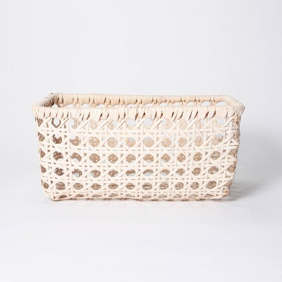 "11"" x 8"" Rattan Turntum Weave Basket Natural - Threshold™ designed with Studio McGee"