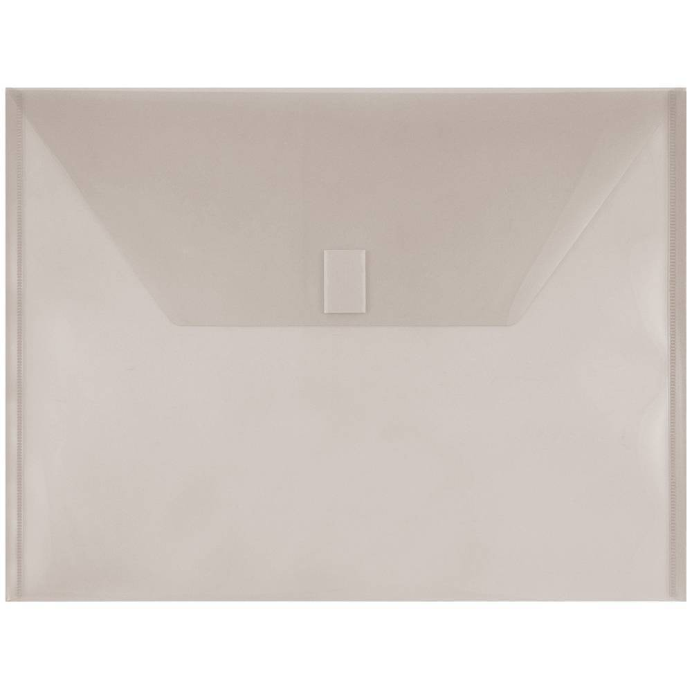 Jam Paper 9 3 4 X 13 12pk Plastic Envelopes With Hook Loop Closure Letter Booklet Gray