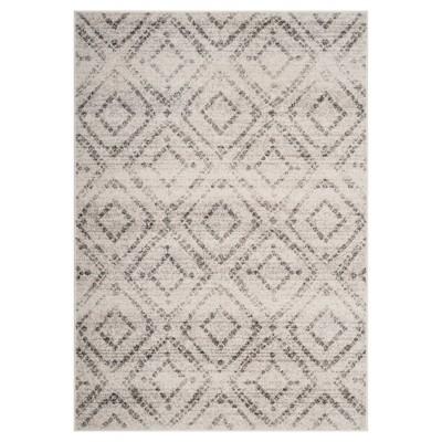 Gray Geometric Loomed Area Rug 8'X10' - Safavieh