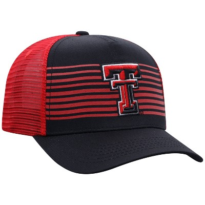 NCAA Texas Tech Red Raiders Men's Striped with Hard Mesh Snapback Hat