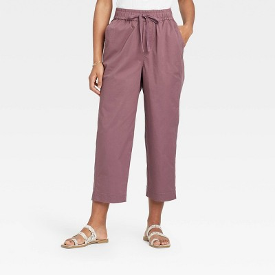 Women's High-Rise Relaxed Fit Pull-On Ankle Pants - A New Day™