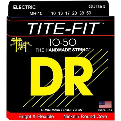 DR Strings Tite-Fit MH-10 Medium-Heavy Nickel Plated Electric Guitar Strings - image 1 of 1