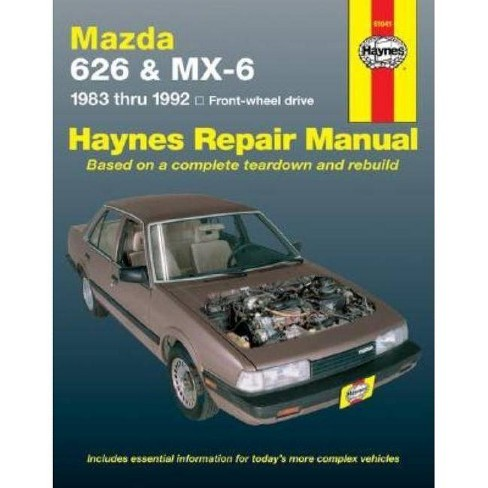 Mazda 626 and MX-6 Four Wheel Drive, 1983-1992 - (Haynes Repair Manual (Paperback)) 5 Edition - image 1 of 1