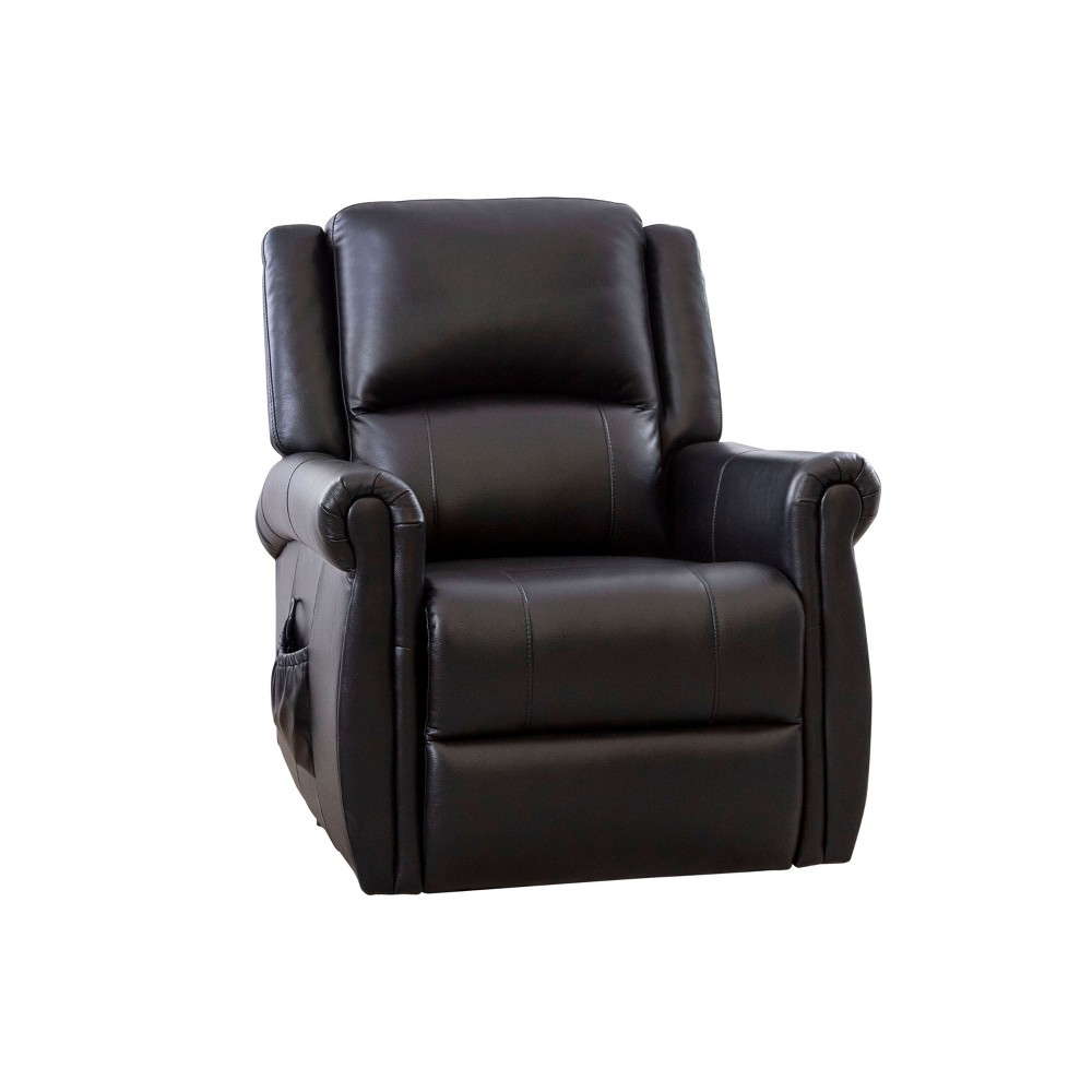 Polo Power Massage Recliner Black - Abbyson Living