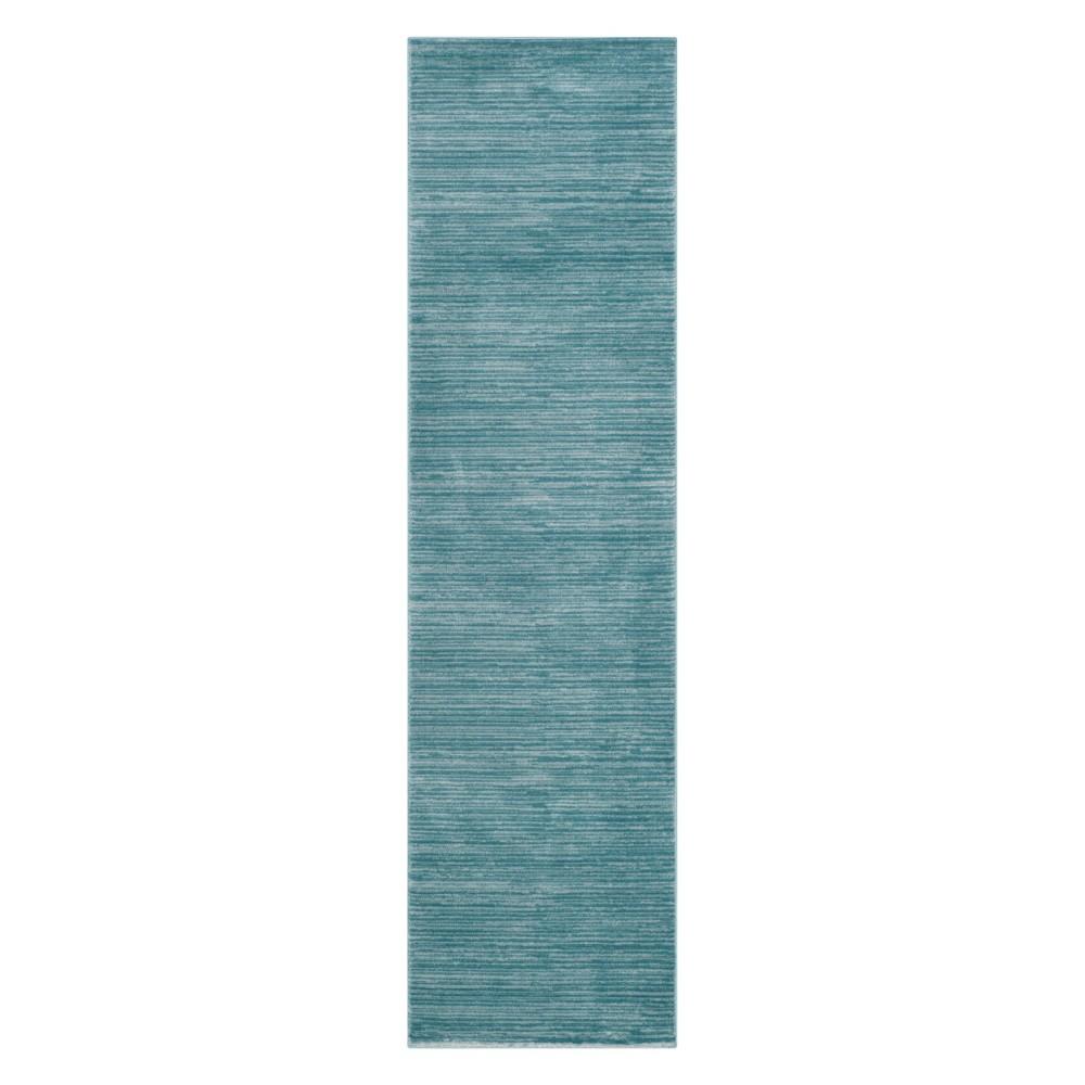 2'2X14' Solid Loomed Runner Aqua (Blue) - Safavieh