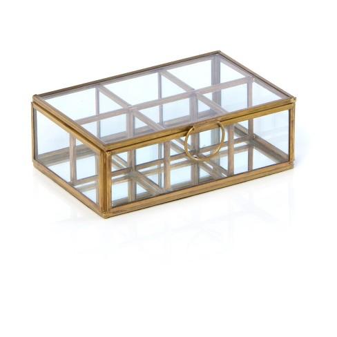 Wallace 6 Compartment Display Box  - Gold - Shiraleah - image 1 of 3