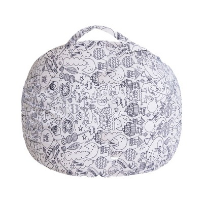 Stuffed Animal Storage Bean Bag Chair Cover for Kids' - Posh Creations