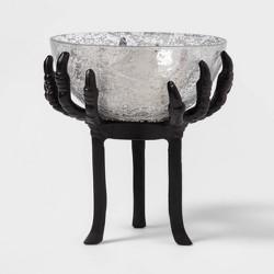 Crow Feet Glass Halloween Serving Bowl Black Tall - Hyde & EEK! Boutique™