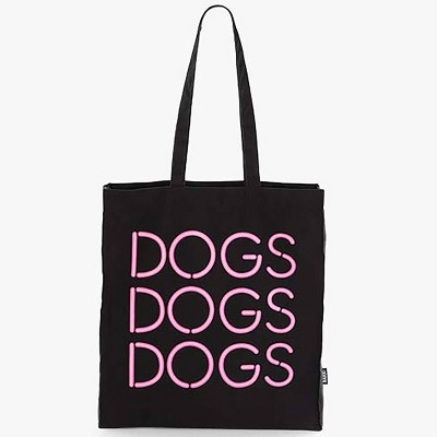 Bark Dogs Dogs Dogs Tote - Black