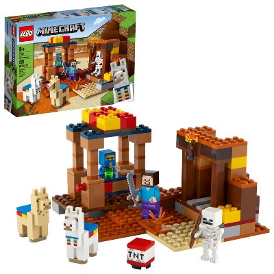 LEGO Minecraft The Trading Post; Includes Minecraft's Steve and Skeleton Toys 21167