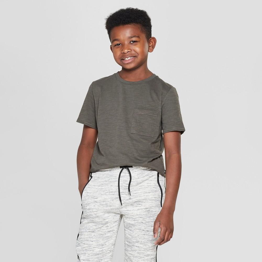 Boys' Short Sleeve Curved Hem T-Shirt - art class Dark Green M