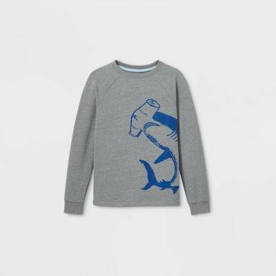 Boys' Hammerhead Shark Pullover Sweatshirt - Cat & Jack™ Gray