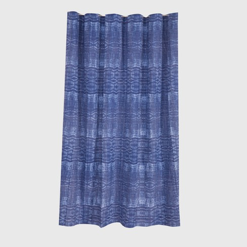 Printed Shower Curtain Blue - Threshold™ - image 1 of 1
