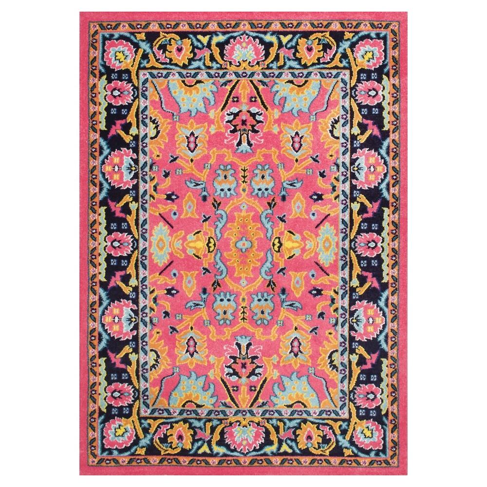 Pink Solid Loomed Area Rug - (5'x8') - nuLOOM, Beige Pink