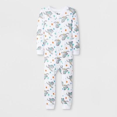 Toddler Boys' Dumbo Blanket Sleeper - White 2T