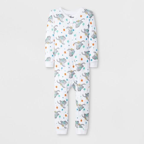 Toddler Boys' Dumbo Blanket Sleeper - White - image 1 of 1