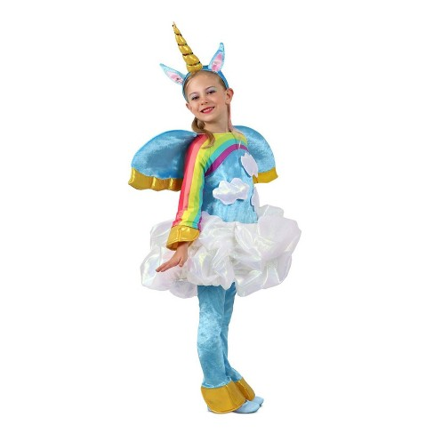 Mythical Creatures Halloween Costumes.Girls Candy Catchers Unicorn In The Clouds Halloween Costume