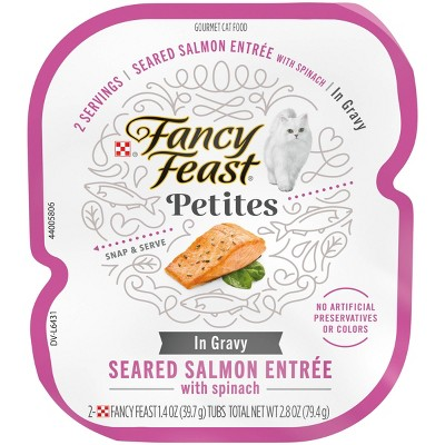 Fancy Feast Petites Sauteed Salmon with Spinach in Gravy Wet Cat Food - 2.8oz