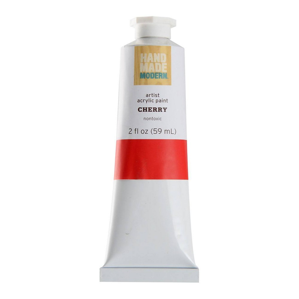 Image of 2 fl oz Acrylic Craft Paint - Hand Made Modern Cherry, Red