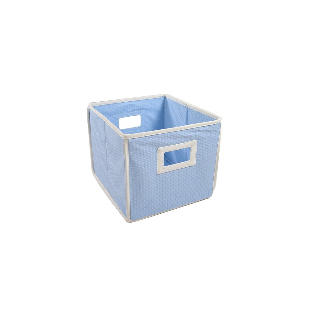 Badger Basket Textured Fabric Cube - Blue
