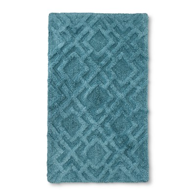 34 x20  Tufted Lattice Spa Bath Rug Aqua - Fieldcrest®