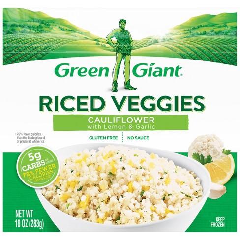 Green Giant Riced Veggies Frozen Cauliflower Lemon Garlic 10oz Target