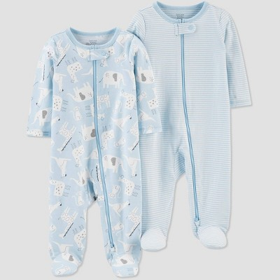 Baby Boys' 2pk Sleep N' Play - Just One You® made by carter's Blue 6M