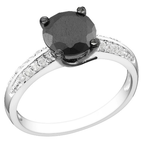 3 CT.T.W. Black & White Cubic Zirconia Bridal Ring in Sterling Silver - image 1 of 1