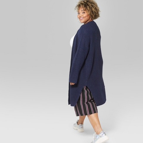 2f4996ed479 Women s Plus Size Long Sleeve Duster Cardigan - Wild Fable™ Navy 2X ...