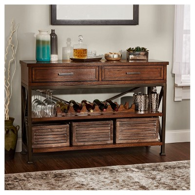 Knowles Wine Cabinet   Dark Wood   Silverwood : Target