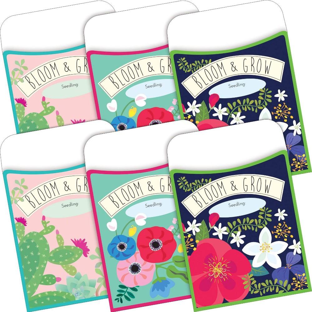 Barker Creek 60pc Petals And Prickles Peel And Stick Pockets Multi Design Set