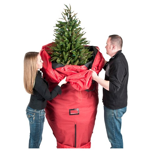 Christmas Tree Storage Bag.Treekeeper Santa S Bags 7 5ft Upright Tree Storage Bag Tree Stand Not Included