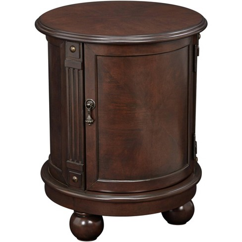 Elm Lane Kendall 19 Wide Espresso, Small Round End Table