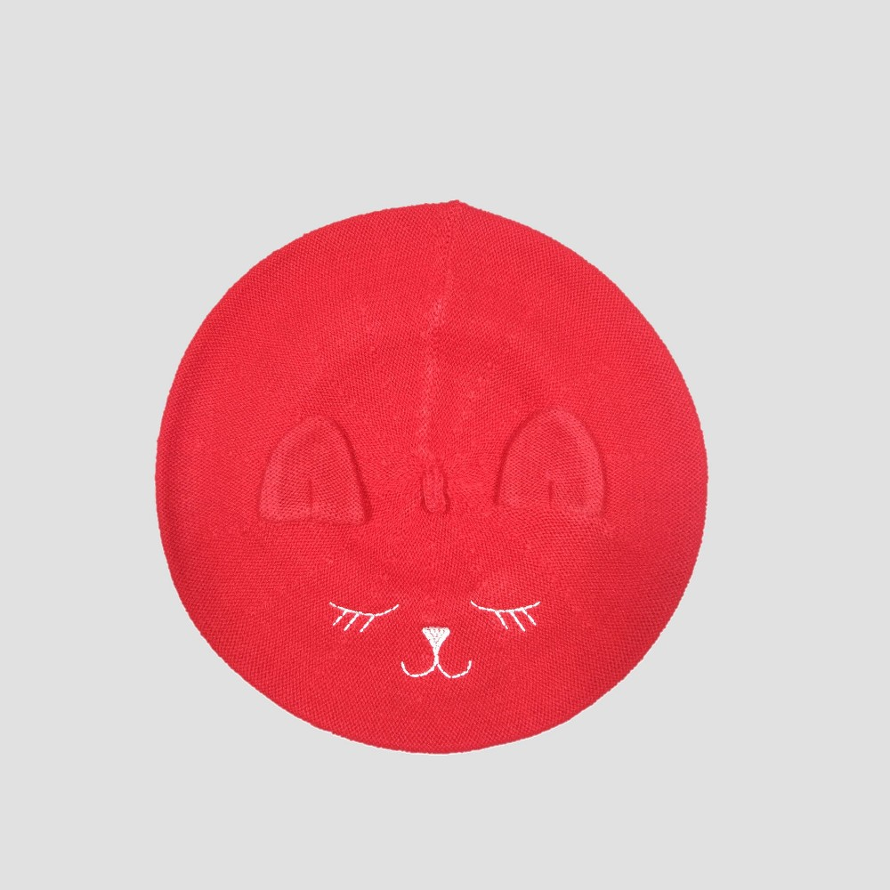 Baby Girls' Cat Beret - Cat & Jack Red 12-24M
