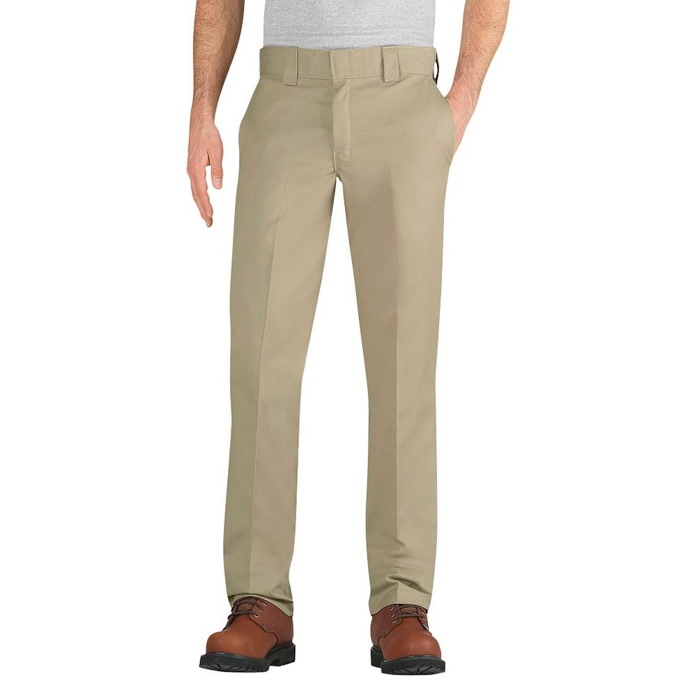 Dickies Men's Slim Taper Fit Twill Pants- Desert Sand 38X30